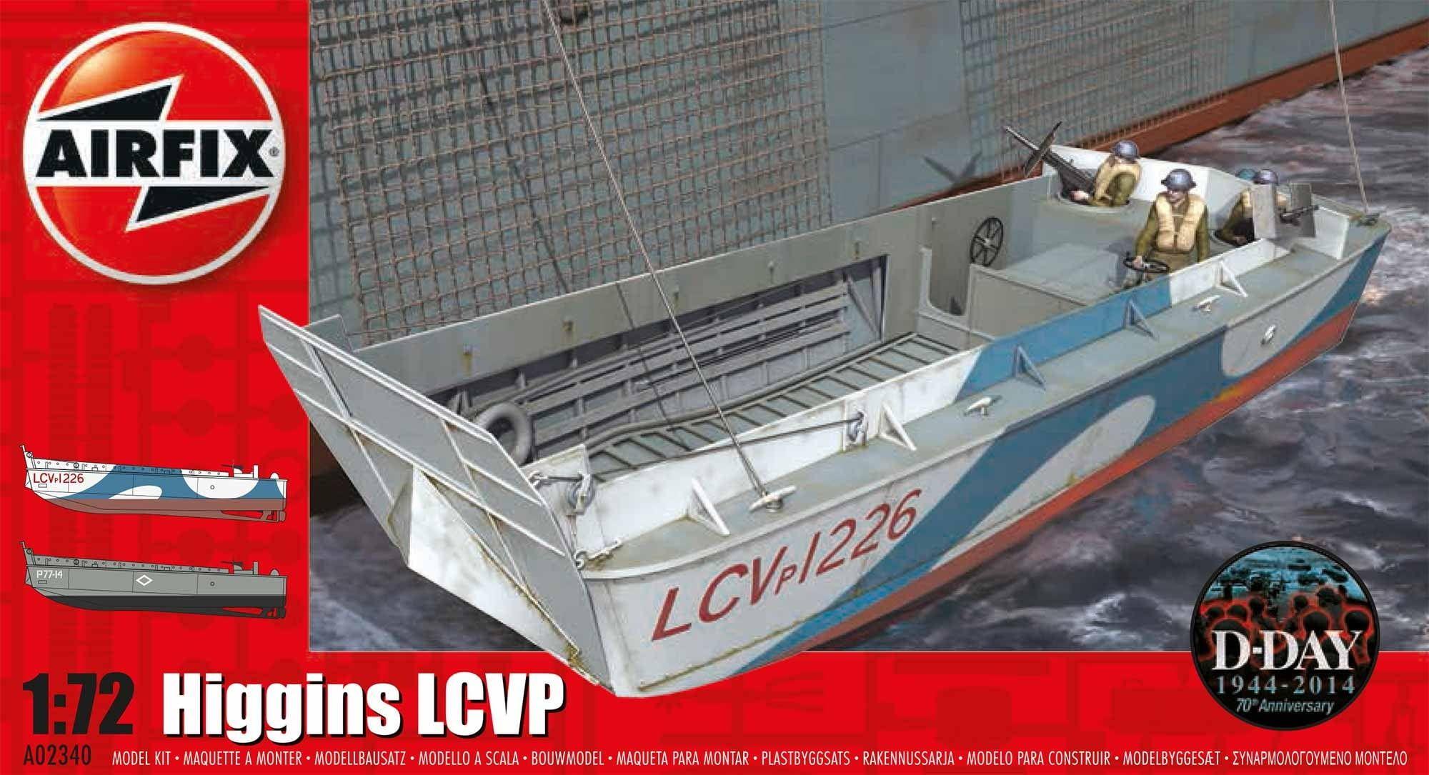 Airfix Higgins LCVP 1:72 Scale Plastic Model Kit
