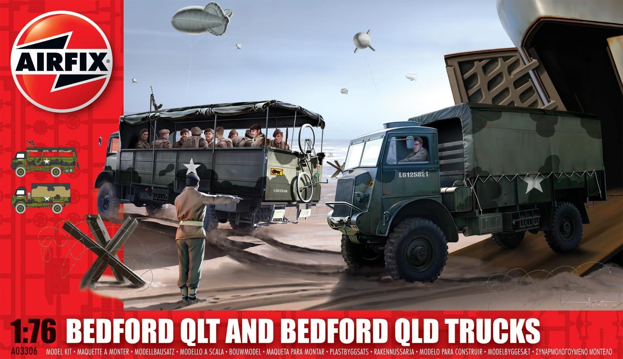 Airfix Bedford QLT And Bedford QLD Trucks 1:76