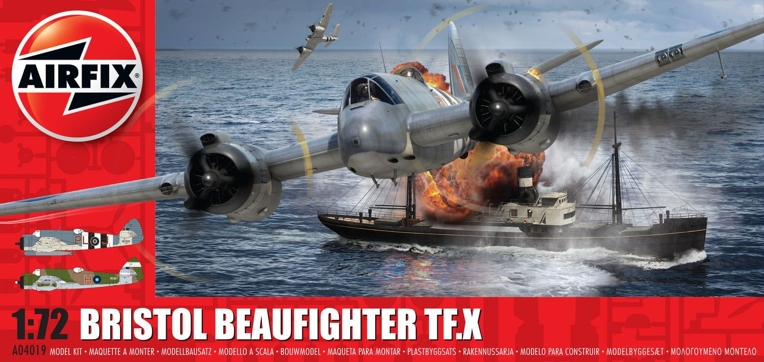 Airfix Bristol Beaufighter Mk.X  1:72 Scale Plastic Model Kit