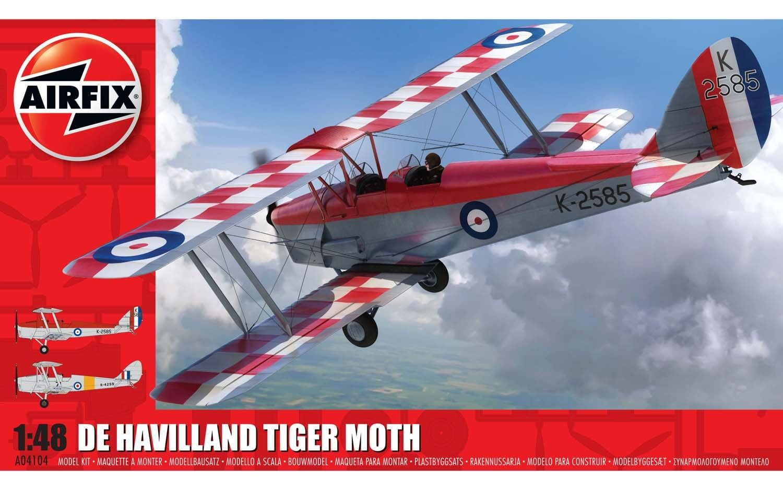 Airfix de Havilland DH82aTiger Moth 1:48 Scale Plastic Model Kit