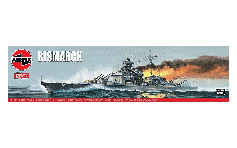Airfix Bismarck 1:600 Scale Plastic Model Kit