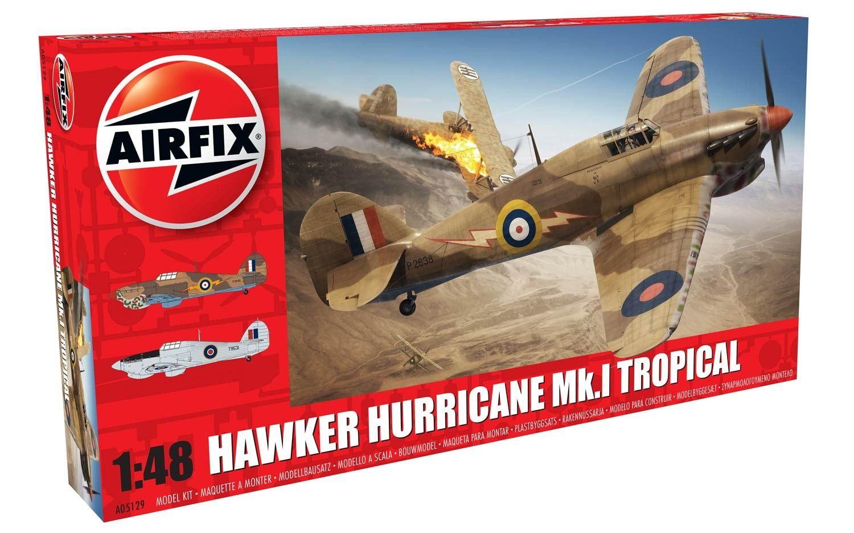 Airfix Hawker Hurricane Mk.I - Tropical 1:48 Scale Plastic Model Kit