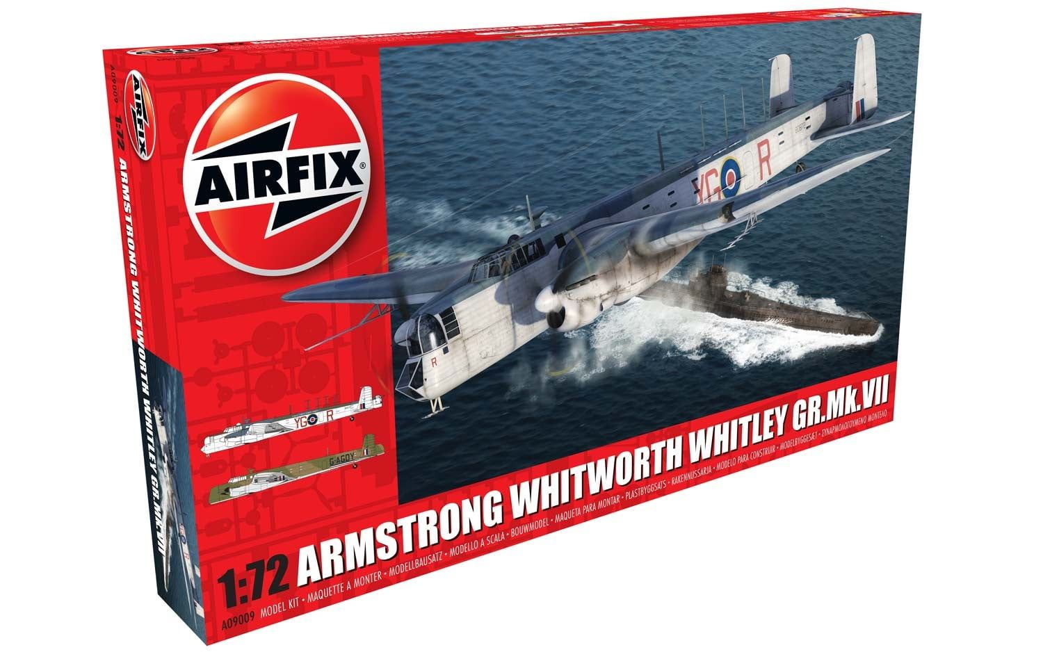 Airfix Armstrong Whitworth Whitley Mk.VII  1:72 Scale Plastic Model Kit