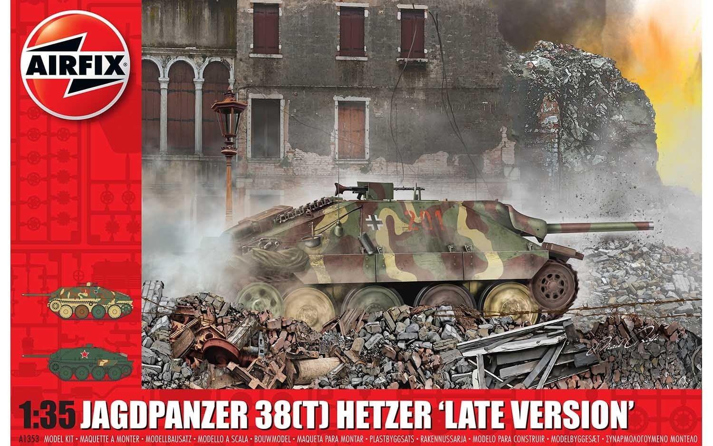 """Airfix JagdPanzer 38 tonne Hetzer """"Late Version"""" 1:35 Scale Plastic Model Kit"""