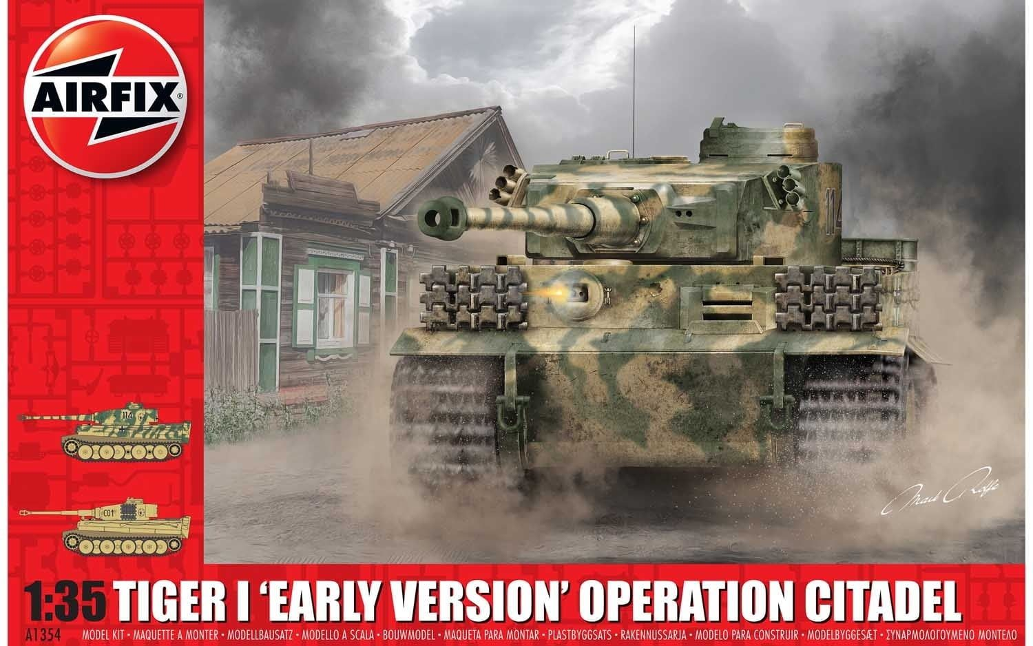 """Airfix Tiger-1 """"Early Version - Operation Citadel""""  1:35 Scale Plastic Model Kit"""