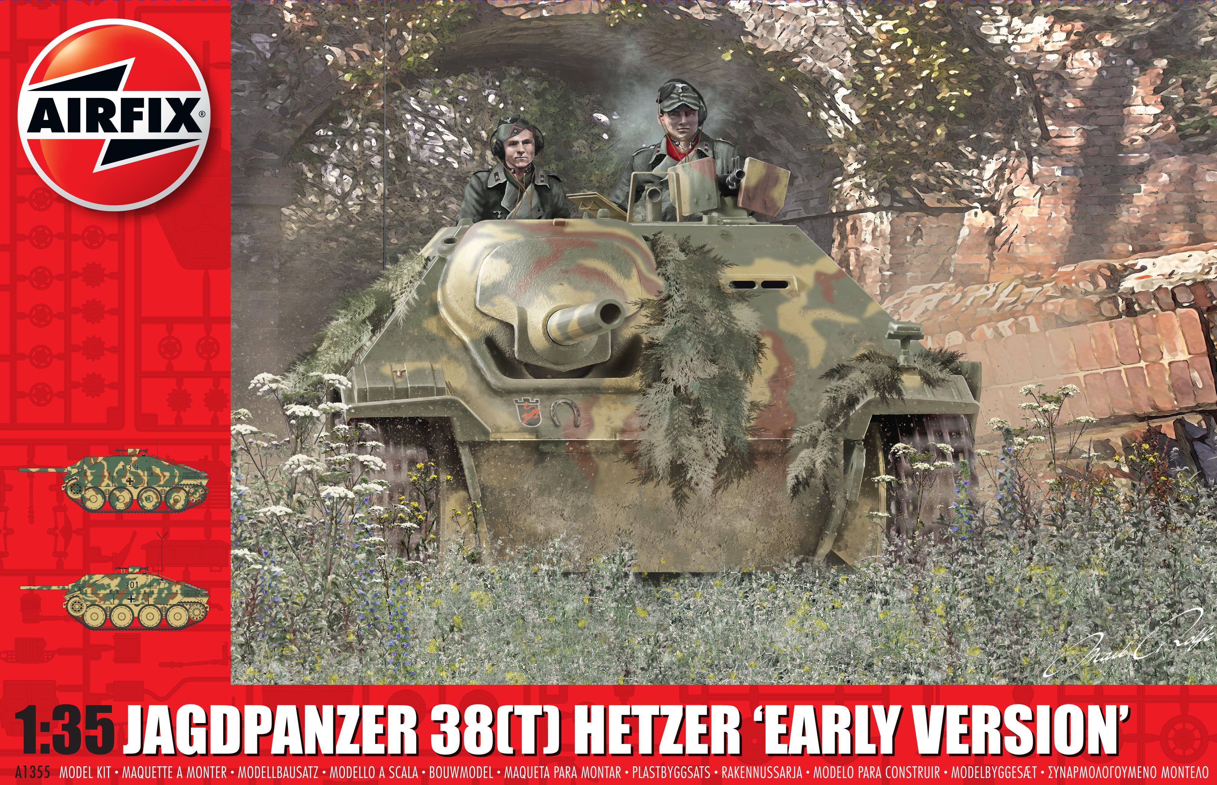 "Airfix JagdPanzer 38 tonne Hetzer ""Early Version""  1:35 Scale Plastic Model Kit"