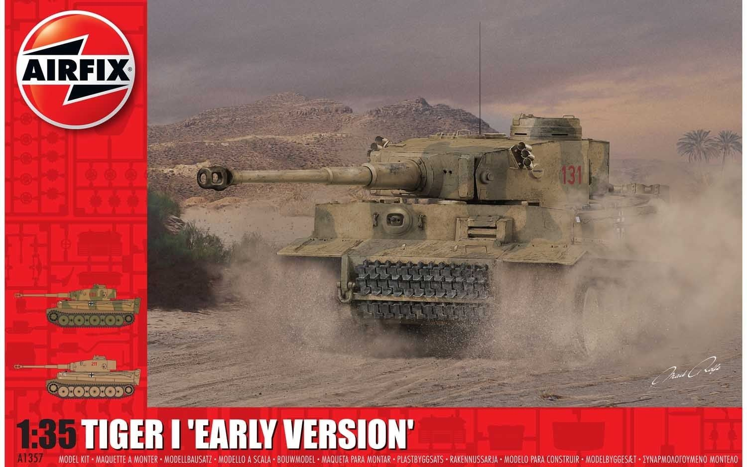 Airfix Tiger 1 Early Production Version 1:35 Scale Plastic Model Kit