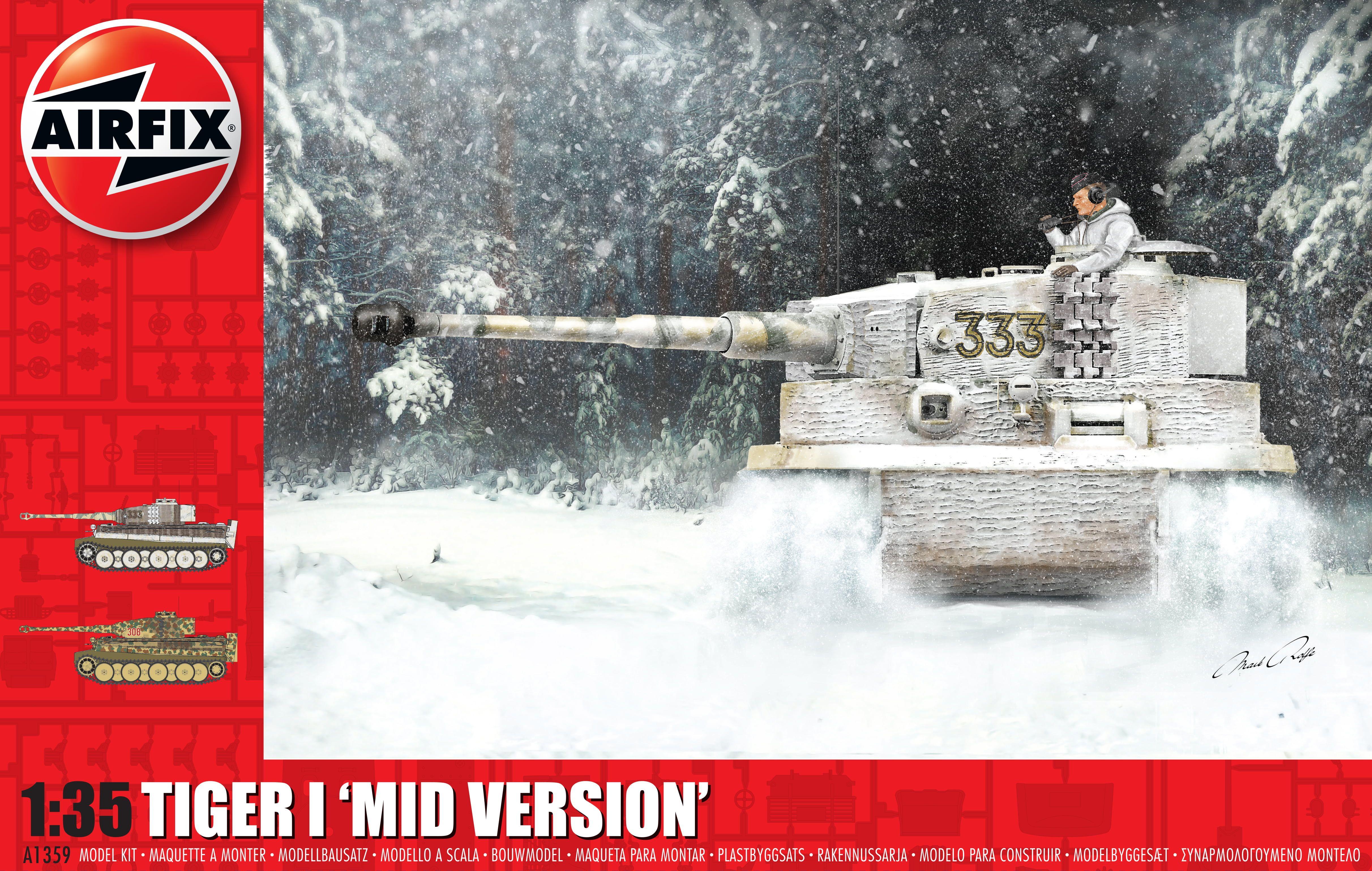 "Airfix Tiger-1 ""Mid Version"" 1:35 Scale Plastic Model Kit"
