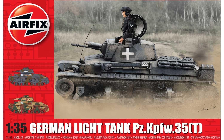 Airfix German Light Tank Pz.Kpfw.35(t) 1:35 Scale Plastic Model Kit