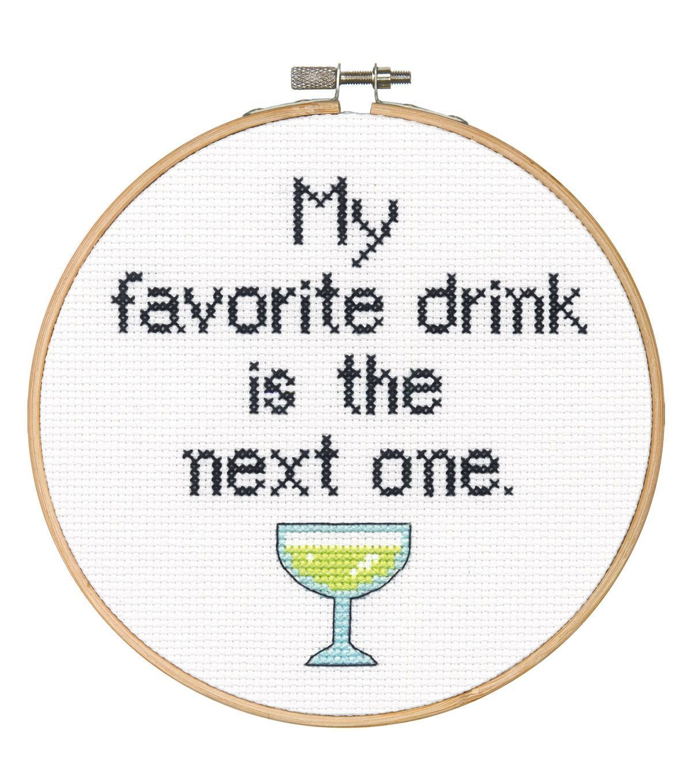 Cross Stitch - Favourite Drink