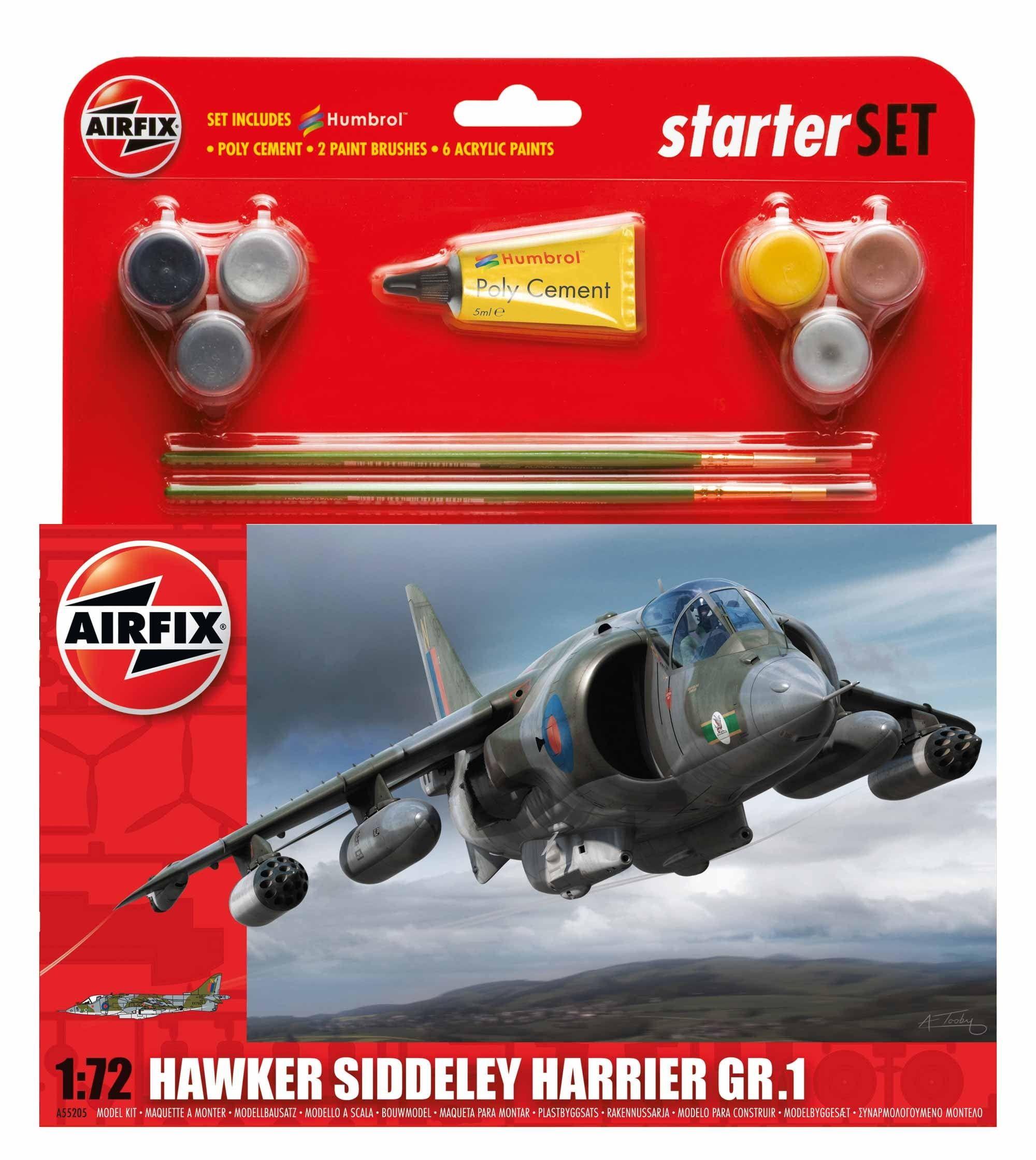 Airfix Medium Starter Set Hawker Harrier GR 1
