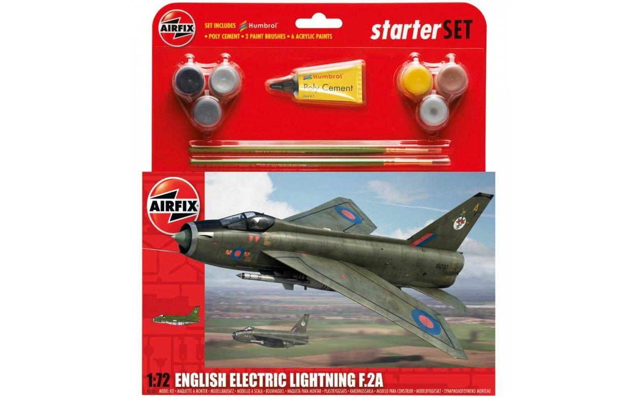 Airfix Large Starter Set English Electric Lightning F 2A