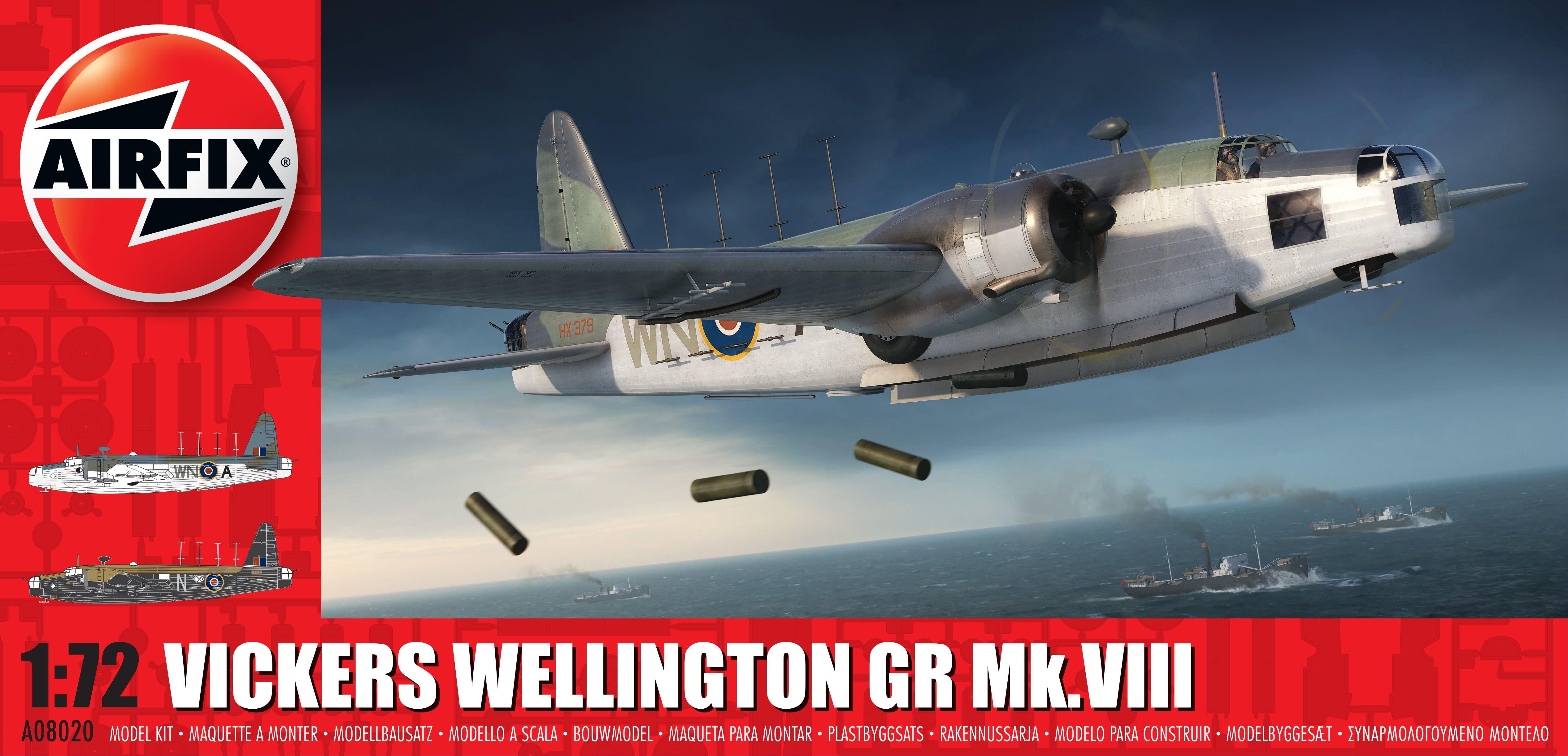 Airfix Vickers Wellington Mk.VIII 1:72 Scale Plastic Model Kit