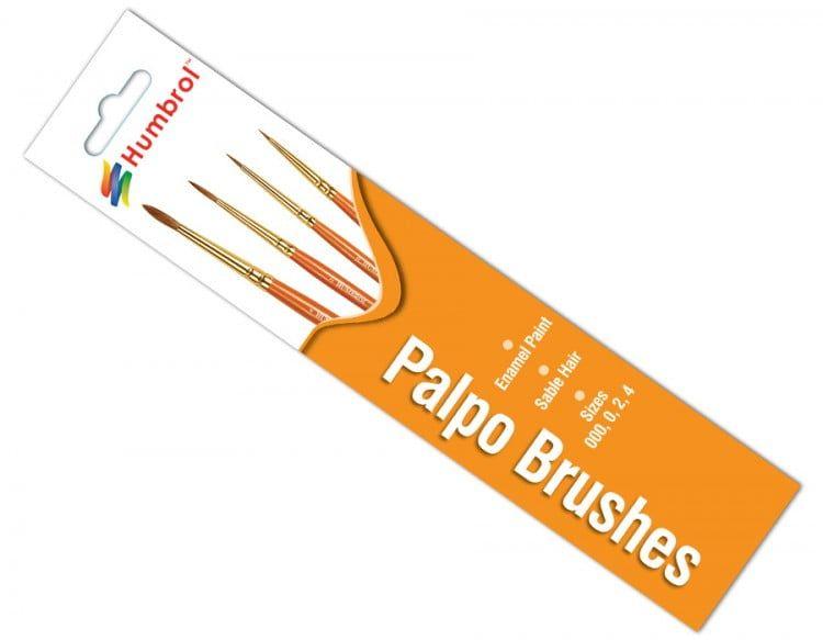 Humbrol Evoco Brush Pack Sizes 000,0,2,4