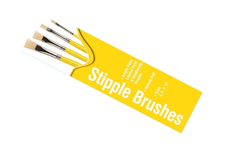 Humbrol Stipple Brush Pack Sizes 3,5,7,10