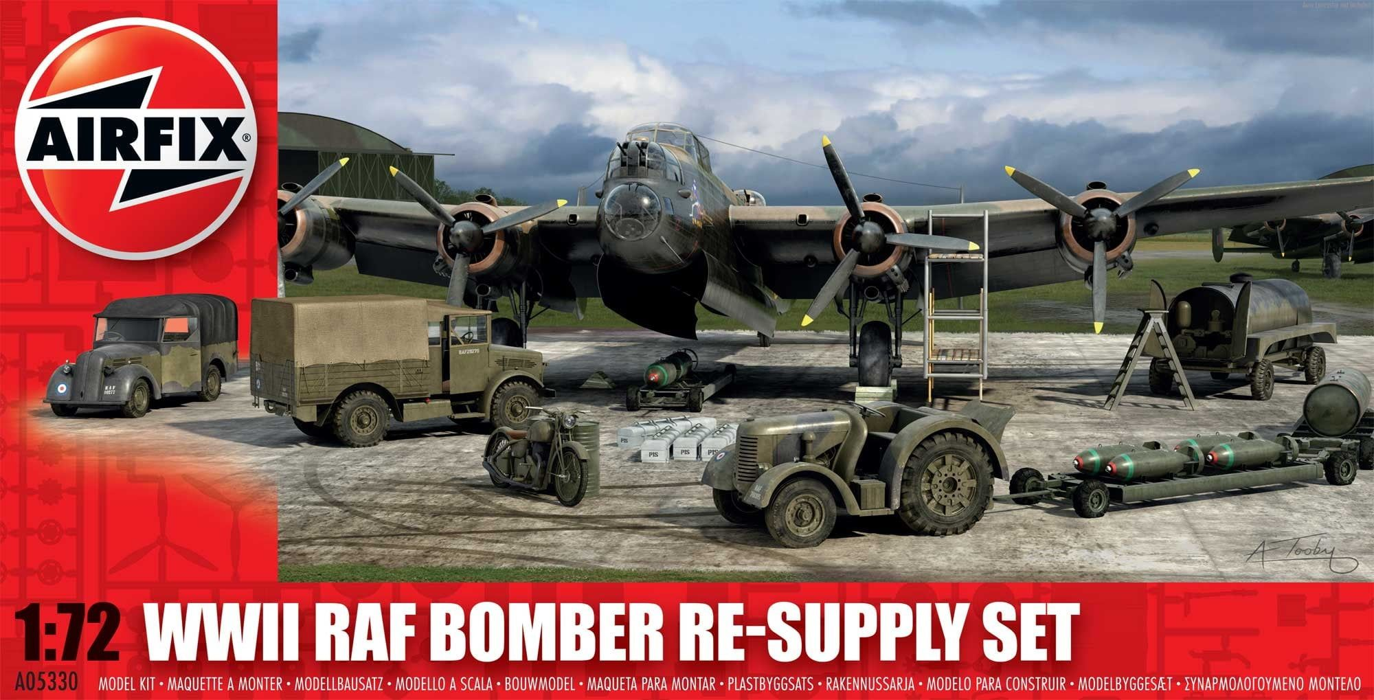 Airfix Bomber Re-supply Set 1:72 Scale Plastic Model Kit