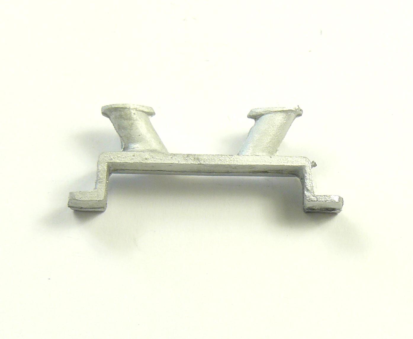 2 x White Metal Stepped Bollard 37mm
