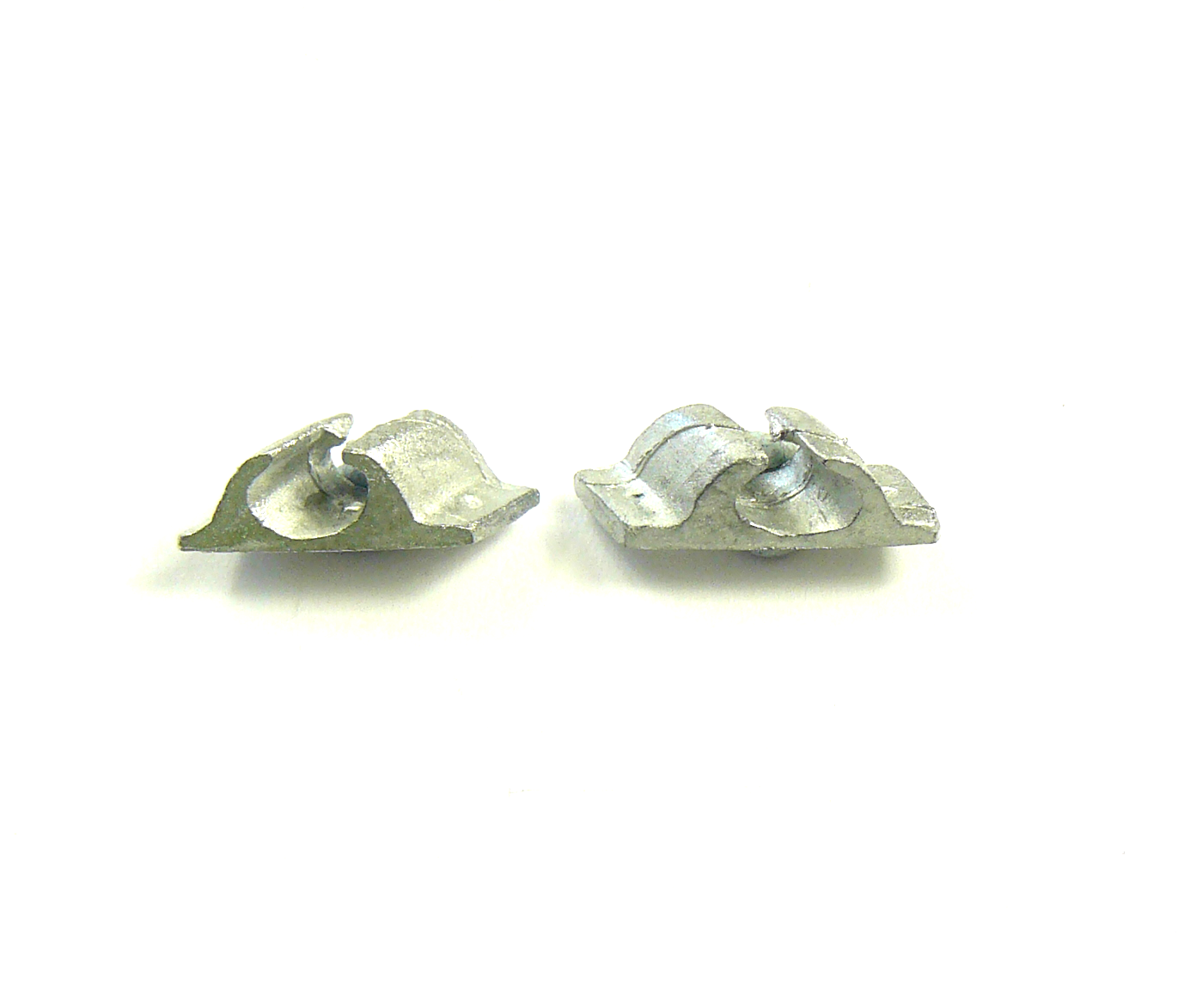 4 x White Metal Angle Fairlead 18mm