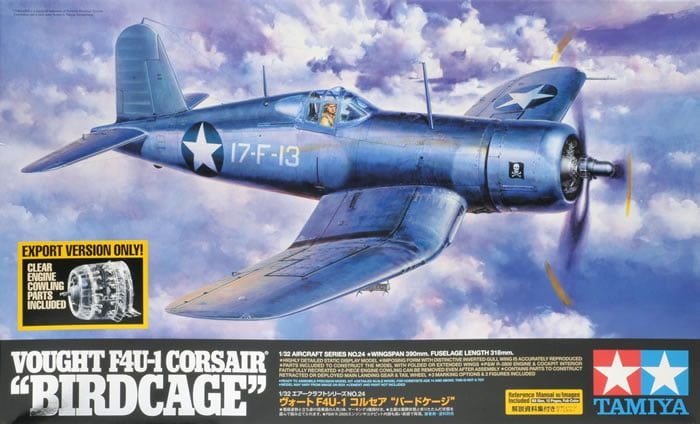 Tamiya Vought F4U-1 Corsair Birdcage US Marine Corp 1:32 Scale