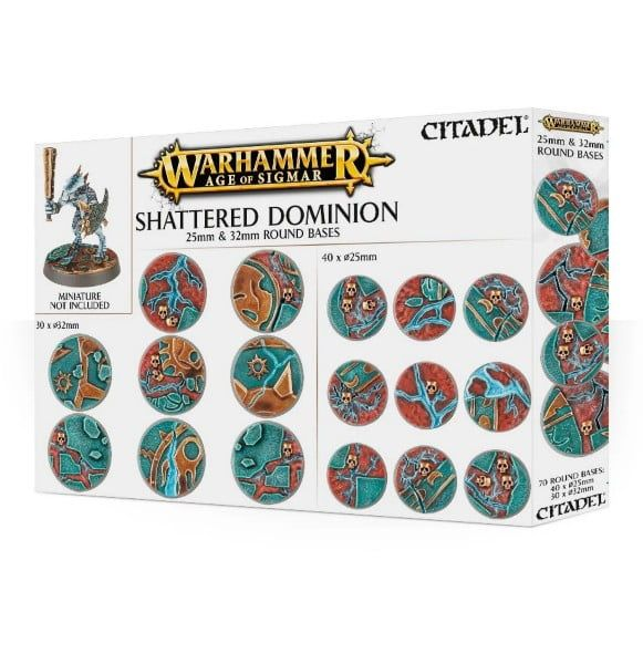 Warhammer Age Of Sigmar Shattered Dominion 25 & 32mm Round Bases