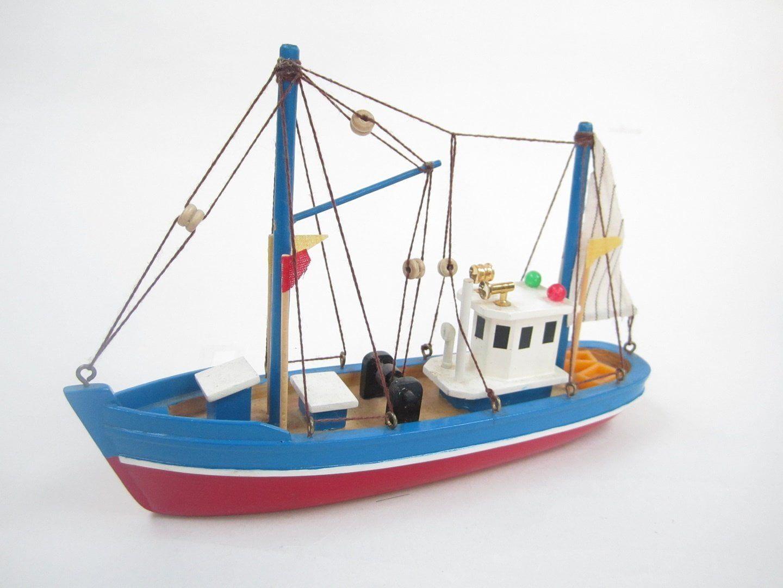 Blue Dolphin Starter Boat Kit  Build Your Own Wooden Model Fishing Boat