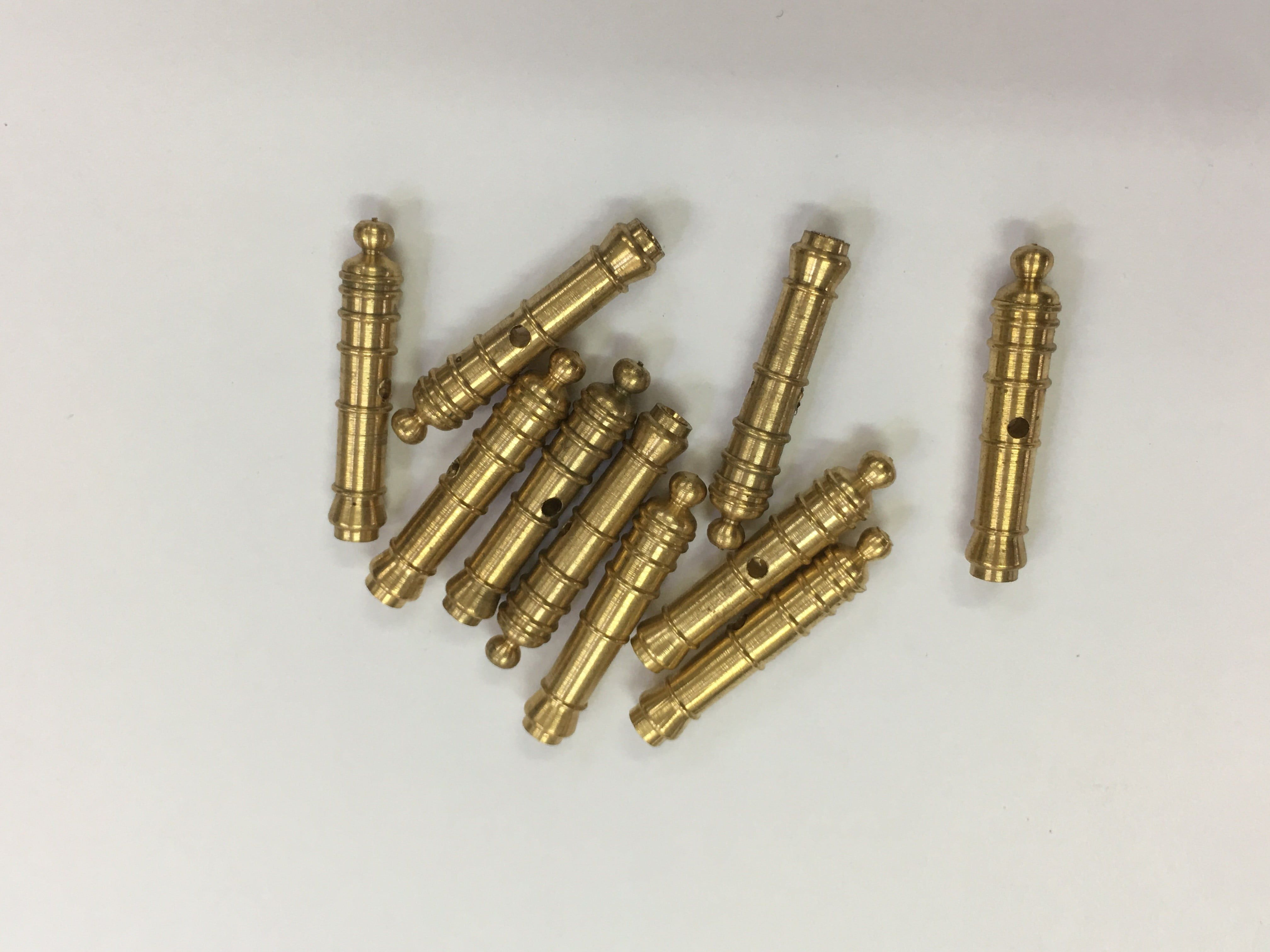 Mantua Models Solid Brass Cannons - 20mm Brass Cannons (Pack of 5)