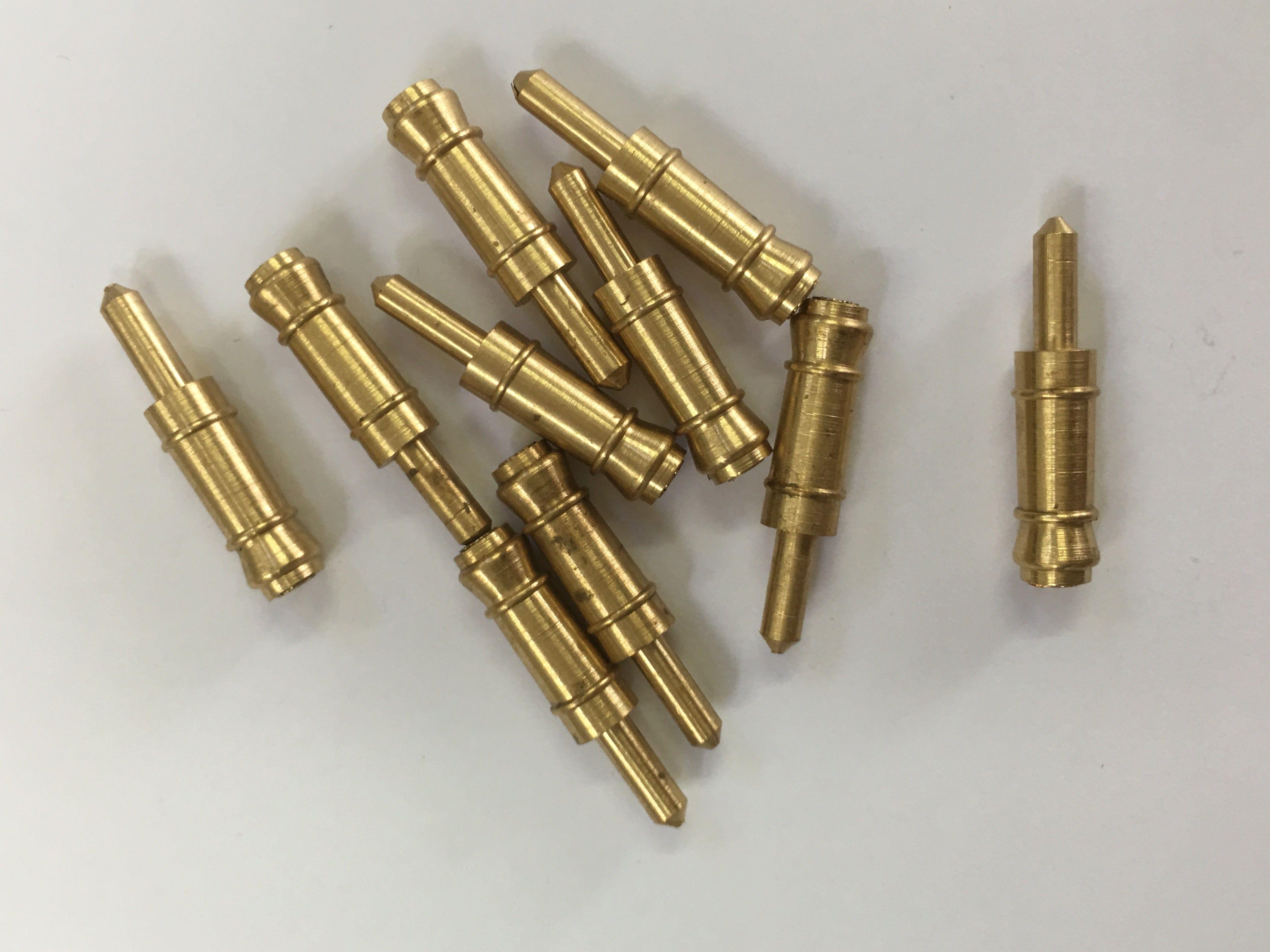 Mantua Models Solid Brass Dummy Barrels - 17mm Brass Dummy Barrel