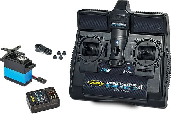 Reflex 'Pro 3.1' 2 Channel 2.4 Transmitter and Receiver Set with Servo