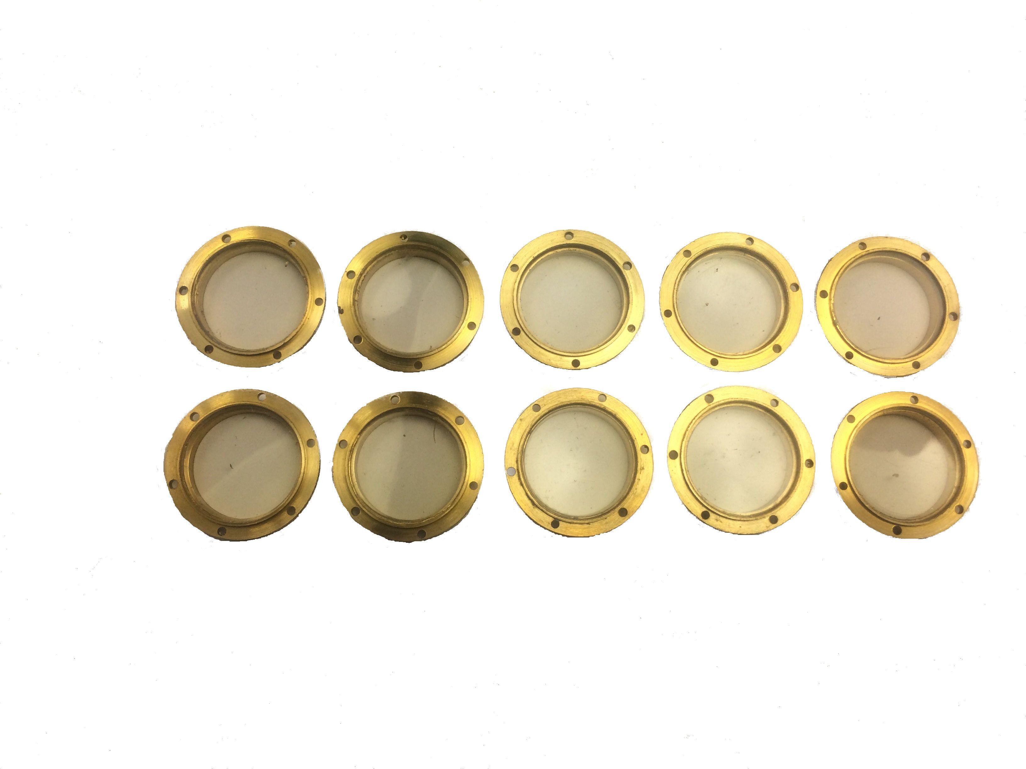 Caldercraft Brass Flanged Glazed Portholes (10) - 8mm Caldercraft Portholes