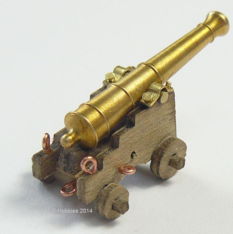 Caldercraft 12pdr Medium Cannon Kit C1790 1:72 Scale Pack of 2