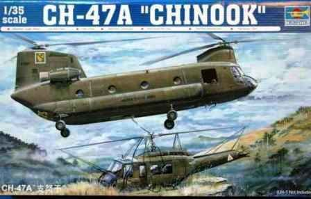 Trumpeter CH-47A Chinook Medium-Lift Helicopter 1:35 Scale Plastic Model Kit