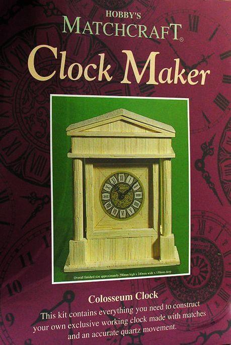 Matchcraft Colosseum Clock Maker Matchstick Kit