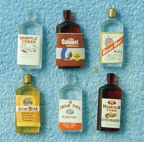 Spirit Bottles x 6