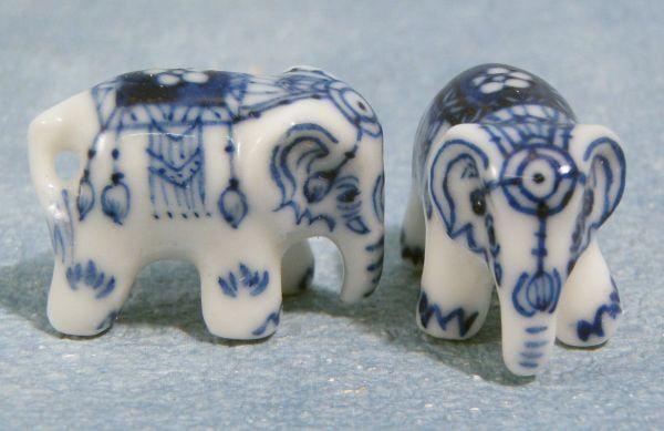 Elephant Ornaments Accessories x 2