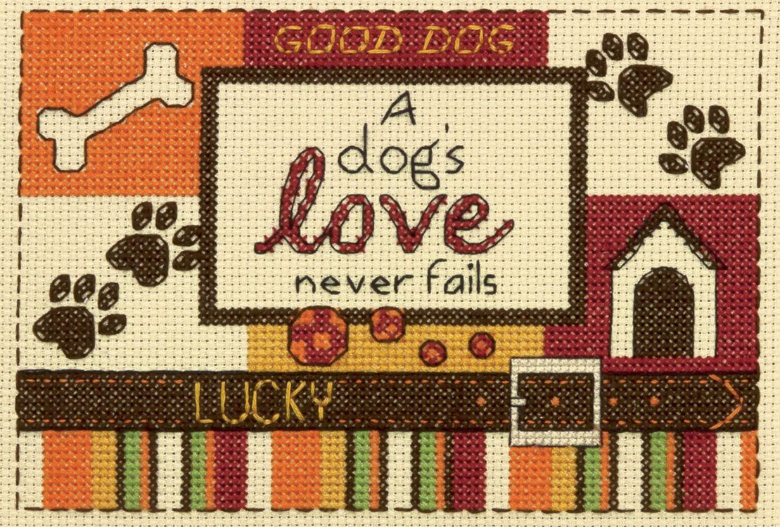Cross Stitch - A Dog's Love