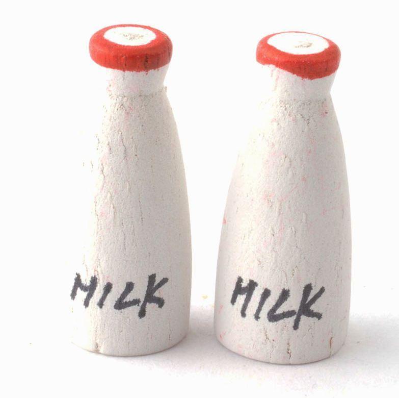 Pair Of Milk Bottles