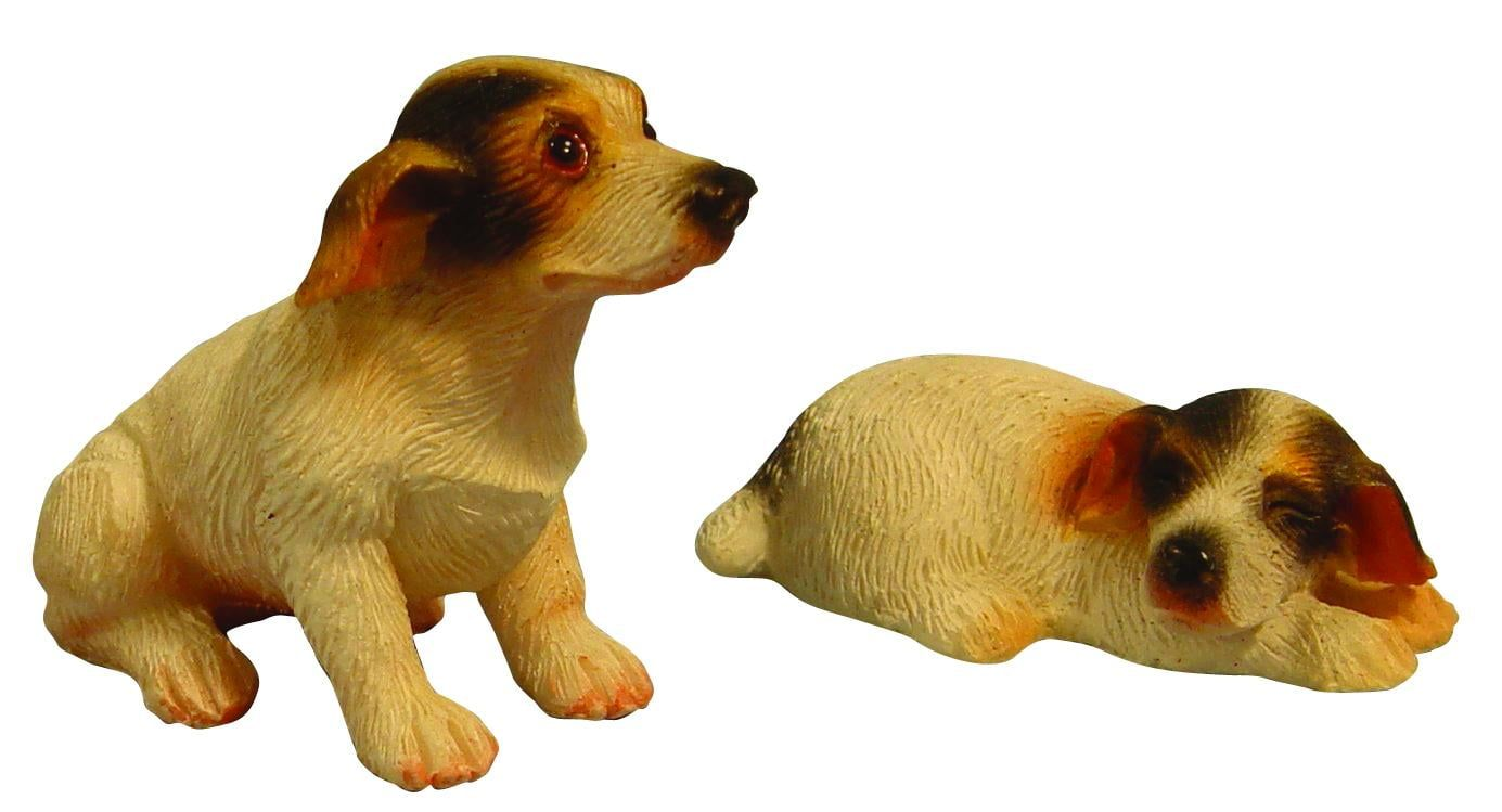 Miniature Pair of Jack Russells 12th Scale
