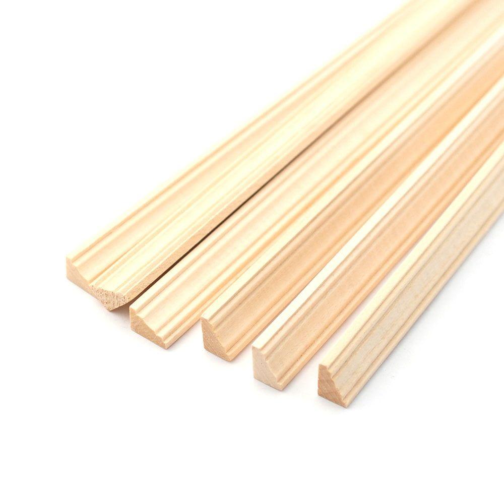Unvarnished Light Wood Cornice pack of 6