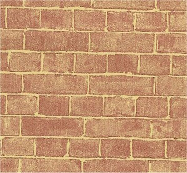 Natural Red Brick 1 12th Paper for Dolls House