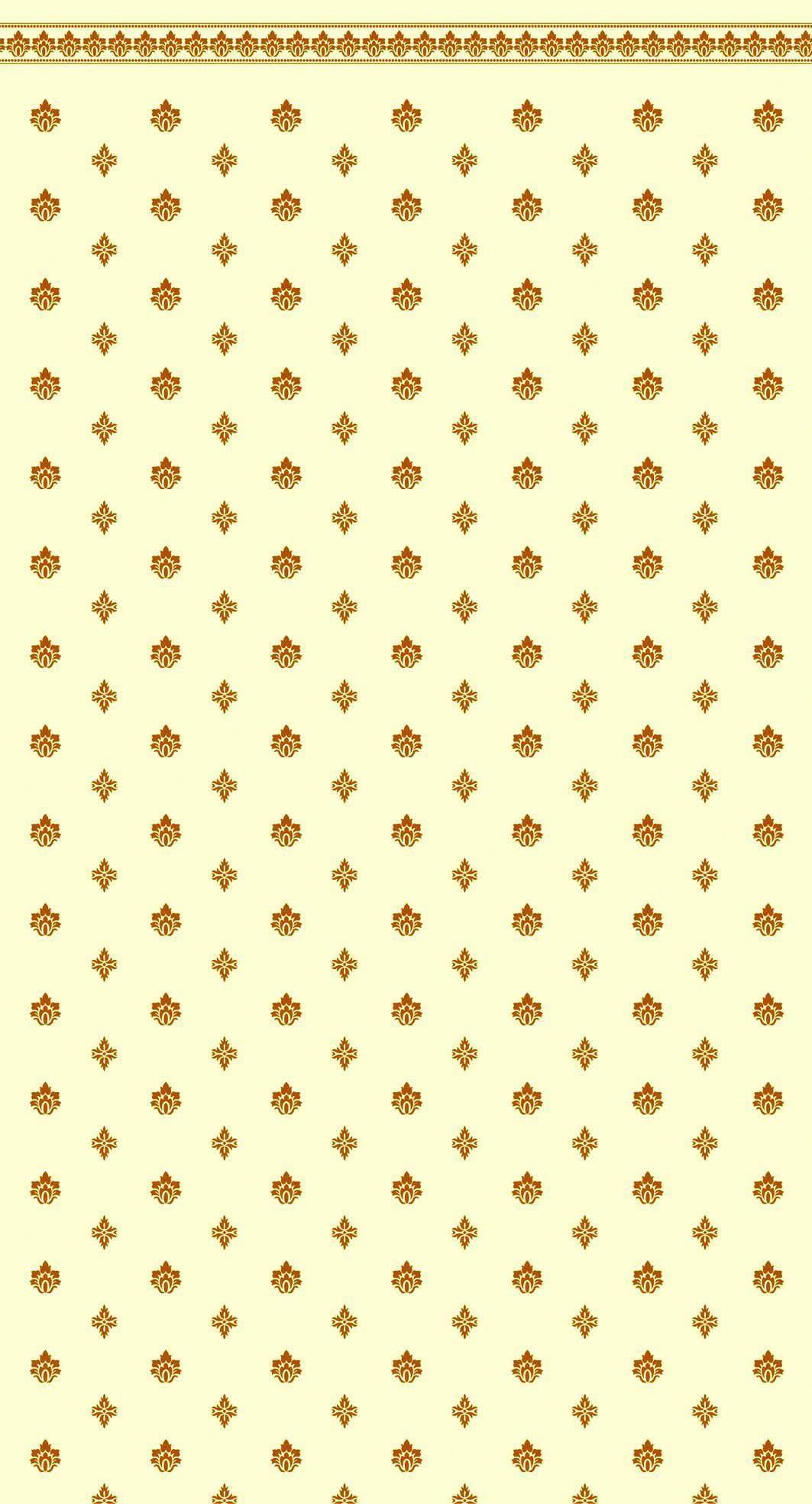 Quality Garden Crest Gold Ivory Wallpaper