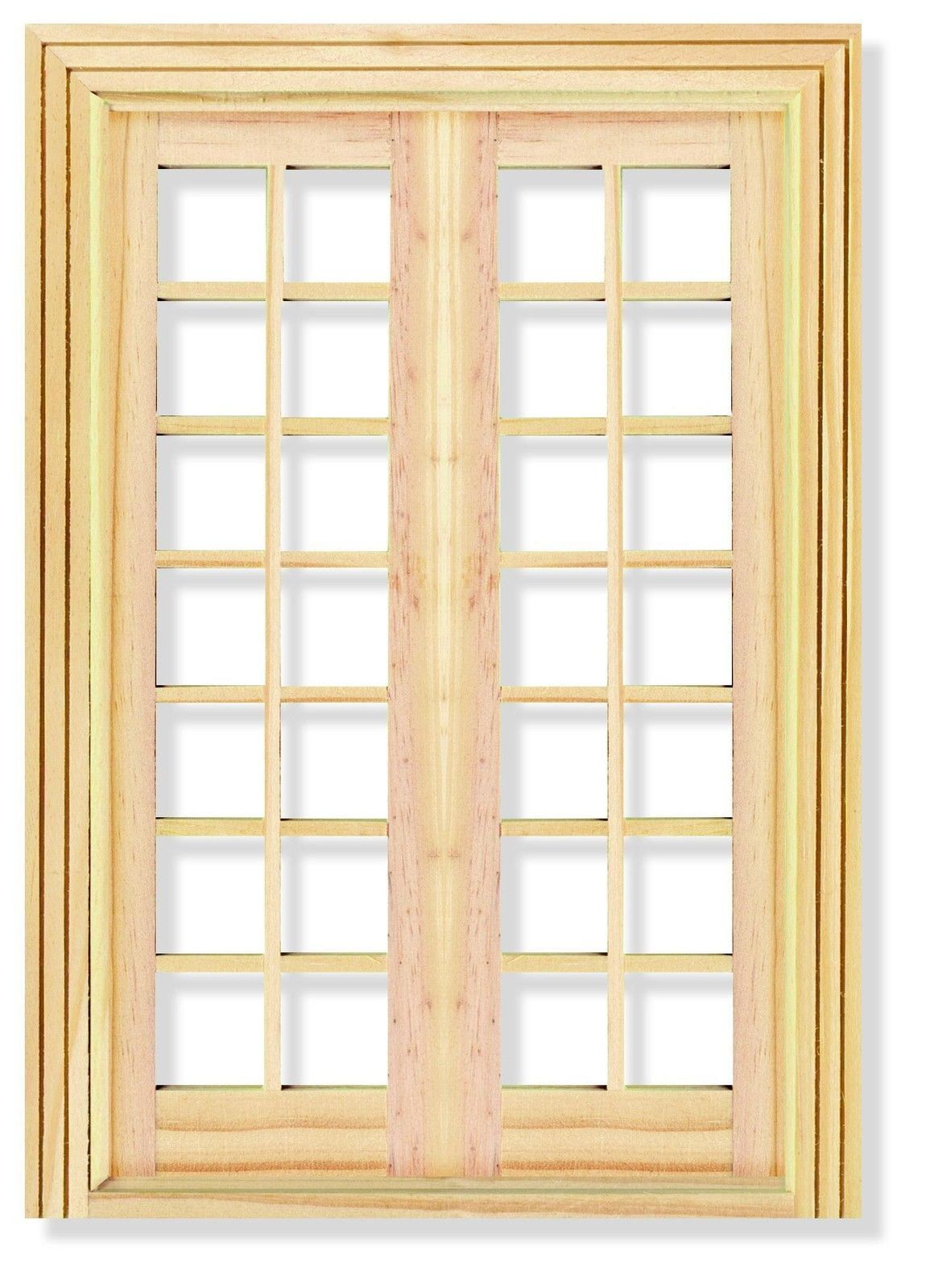 Deluxe Wooden French Doors 1/12th Scale for Dolls House