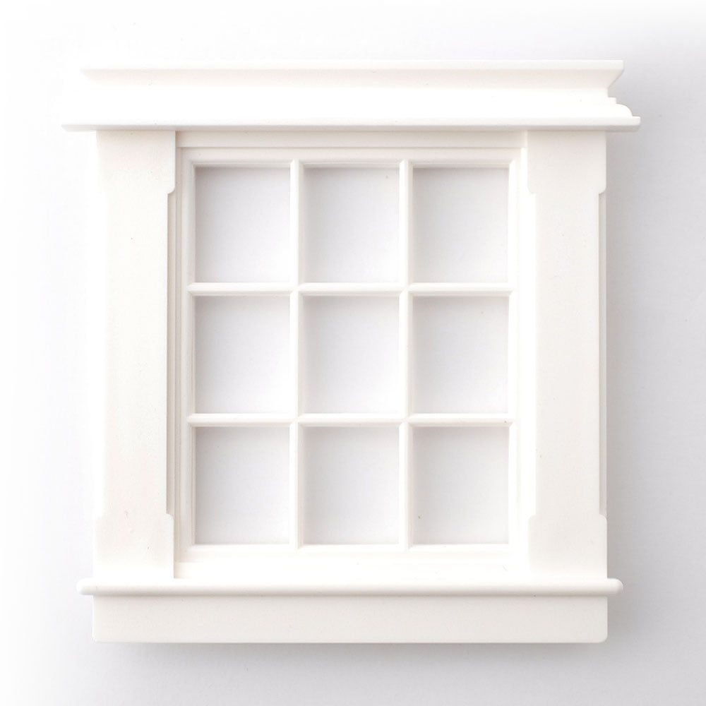 Georgian 9 Pane Window 12th Scale for Dolls House 96mm x 77mm
