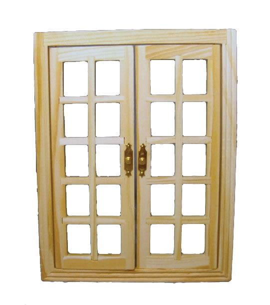 12th Scale Wooden French Windows