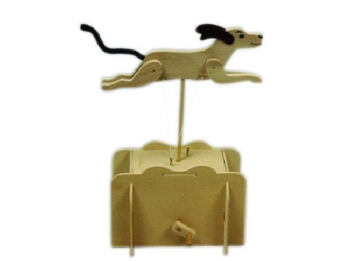 Pathfinders Make Your Own Running Dog Automata Wooden Kit