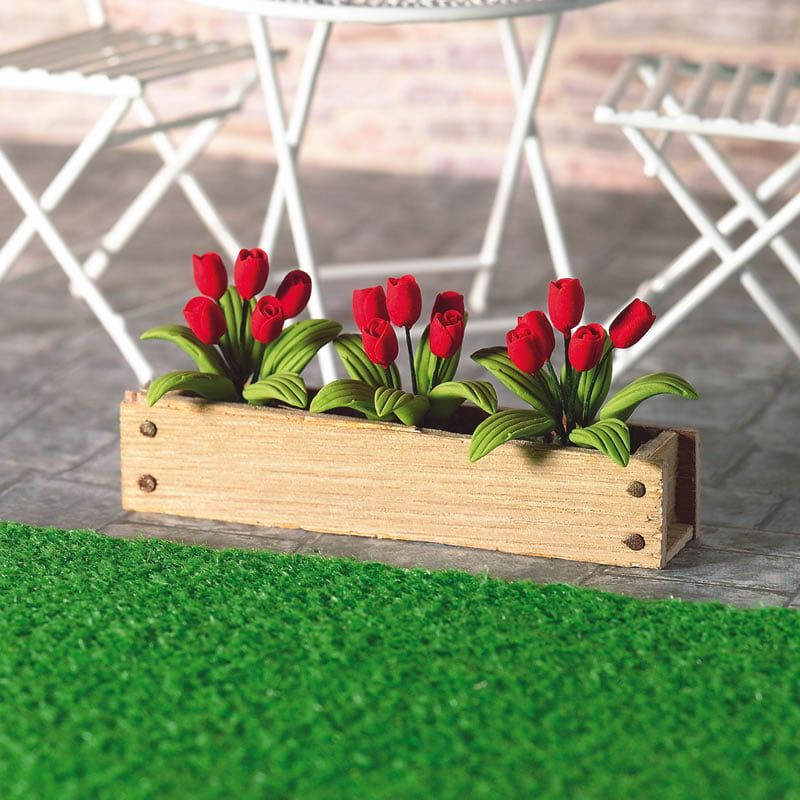 Red Tulips Window Box