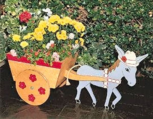Donkey Cart Planter Plans