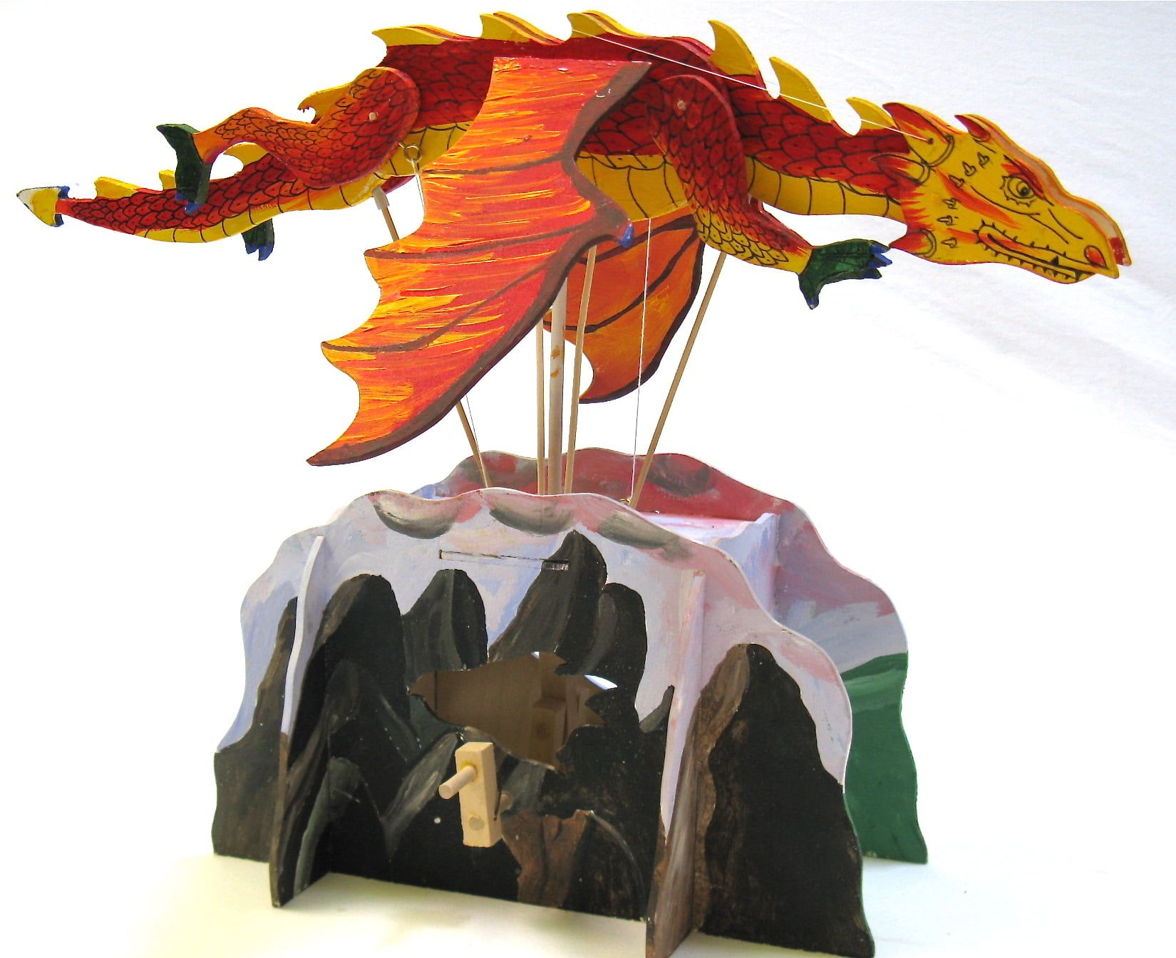 Pathfinders Make Your Own Flying Dragon Wooden Automata Kit