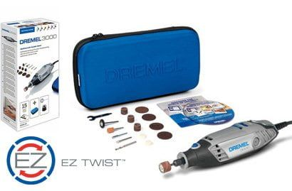 Dremel 3000-15 Multitool - Variable speed - Dremel 3000-15 & Rotacraft 400 Piece Accessory Deal