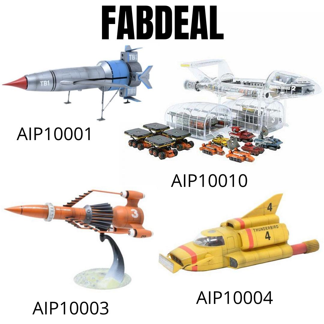 Thunderbirds 1, 2, 3 and 4 Kits