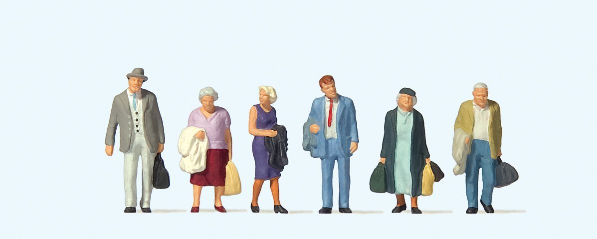 Travellers (6) British OO Scale Figure Set